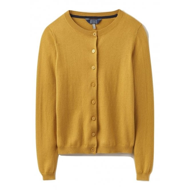 Joules Womens Skye Button Front Cardigan in Ochre d1f0208eb