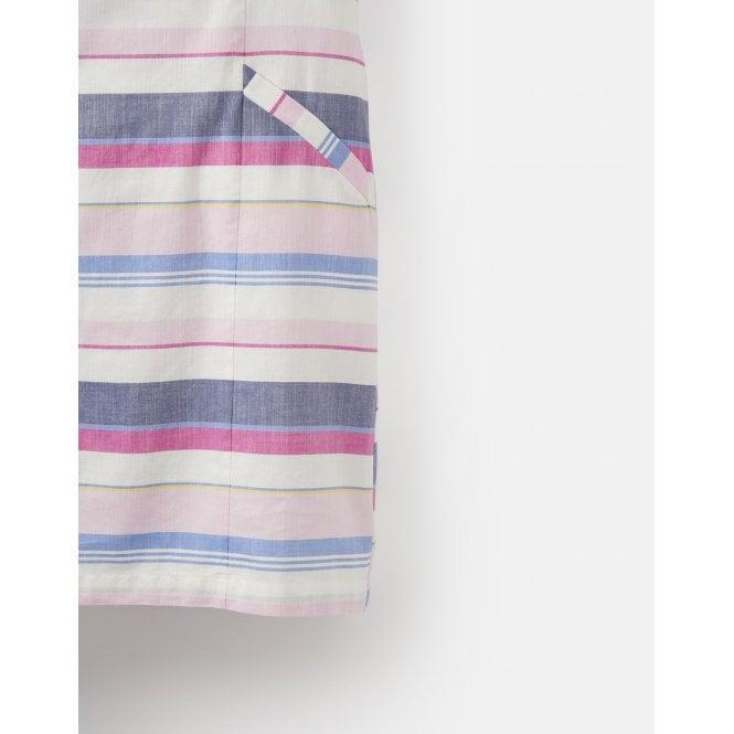fba35f480b Joules Womens Henrietta Linen Shift Dress in Blue Stripe