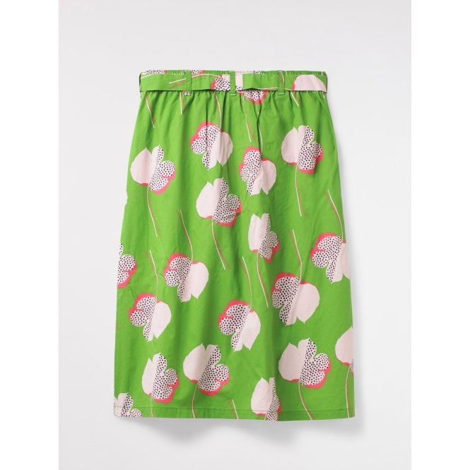 155602f642 White Stuff Womens Sunny Coast Skirt in Palm Green|Parkinsons Lifestyle