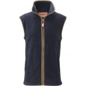 Mens Oakham Fleece Gilet in Navy