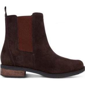 Timberland Womens A1IXM Venice Park Chelsea Boot in Chocolate