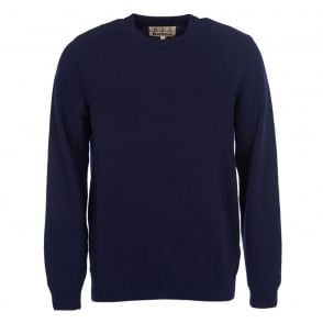 Mens Nelson Essential Crew Neck Jumper in Navy