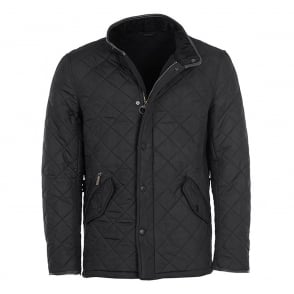 Mens Powell Quilted Jacket in Black