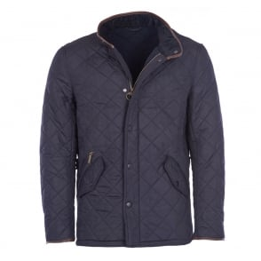 Mens Powell Quilted Jacket in Navy
