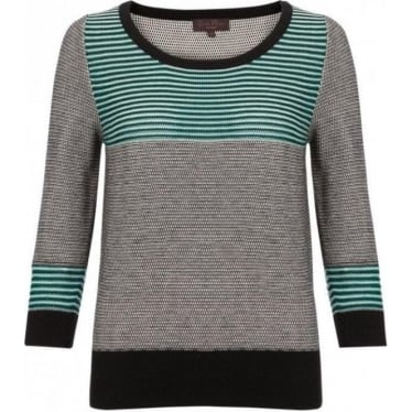 Womens Cagliari Texture Knitted Jumper in Rousseau Green