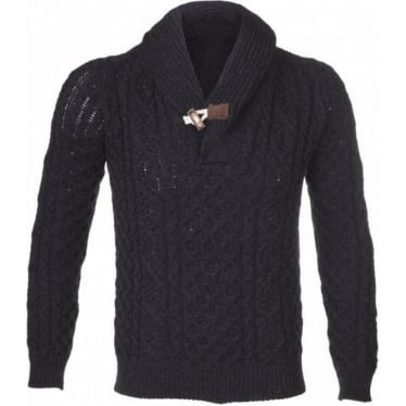 Mens Toggle Jumper in Charcoal