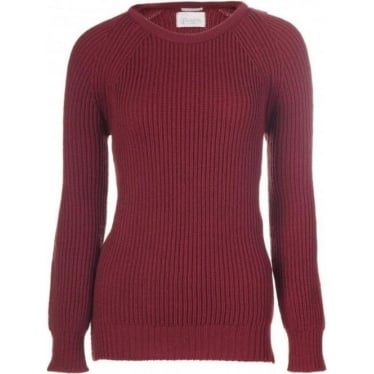 Womens Country Patch Jumper in Coulis