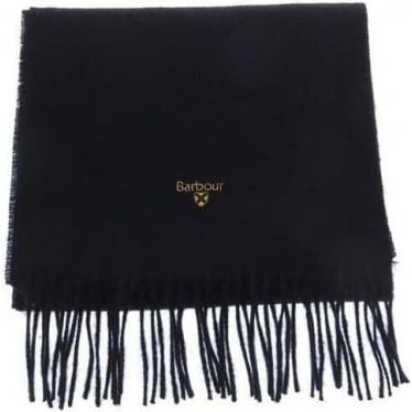 Womens Plain Lambswool Scarf in Black