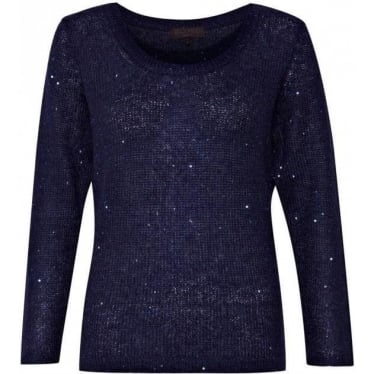 Womens Amelie Mohair Knit in Blue