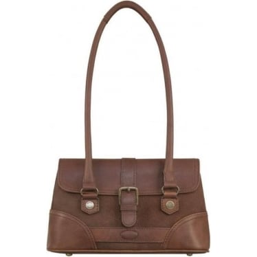 Womens Kenmare Leather Shoulder/Hand Bag in Walnut