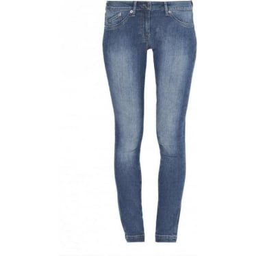 Womens Skinny Hold Jean in Vintage Blue