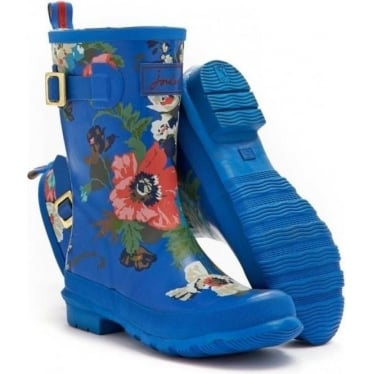 Womens Molly welly in Blue Floral