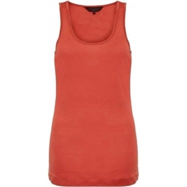 Womens Featherweight Jersey Vest in Rust