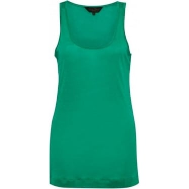 Womens Featherweight Jersey Vest in Seahorse Green