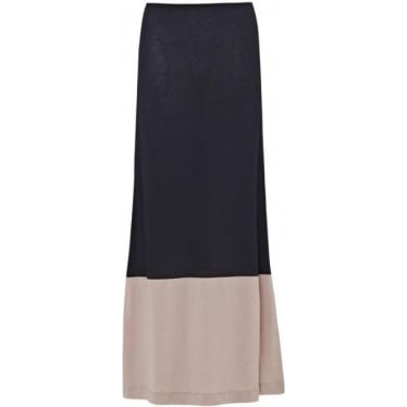 Block Maxi Skirt in The Navy/Sparrow