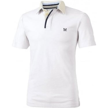 Mens Heritage Short Sleeve Rugby Top in Vintage White