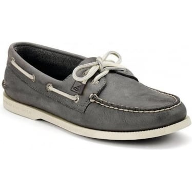 Mens Authentic Original Burnished Boat Shoe in Dark Grey