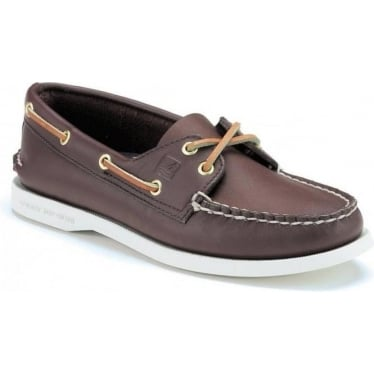 Womens Authentic Original 2-Eye Boat Shoe in Classic Brown