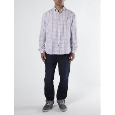 Mens Heartland Small Check Shirt in Pink