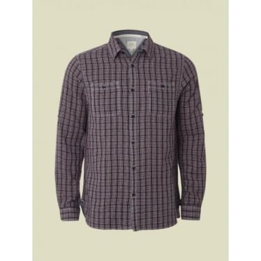 Mens Roebuck Check Shirt in Red