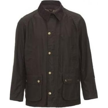 Mens Ashby Wax Jacket in Olive