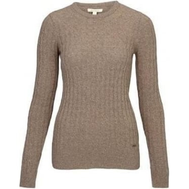 Womens Langdale Crew Jumper in Mocca