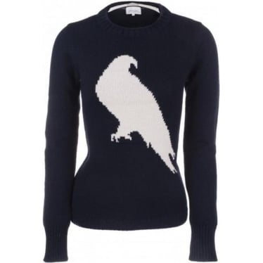 Womens Peregrine Bird Jumper in Navy
