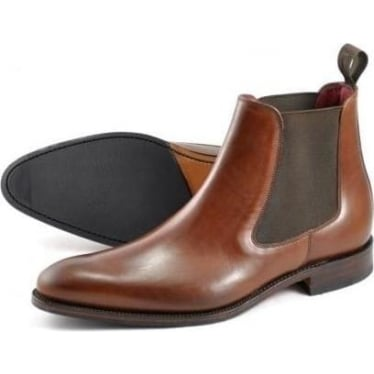 Mens Hutchinson Chelsea Boot in Brown