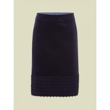 Womens Lacey Skirt in Purple
