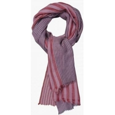 Womens Regatta Scarf in Rose Stripe Cherry