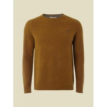 Mens Jeff Front Pocket Knit Jumper in Autumn Yellow
