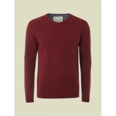 Mens Fade Out V Knit in Red