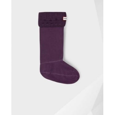 Guernsey Welly Socks in Burgundy