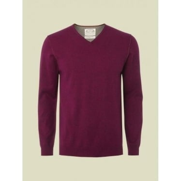Mens Fade Out V Knit in Rose