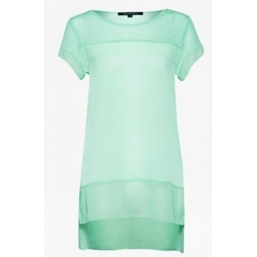 Womens Polly Raw Top in Mint Mojito