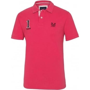 Mens Numbers Polo in Berry