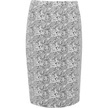 Womens Trellis Pencil Skirt in Seasalt/Black