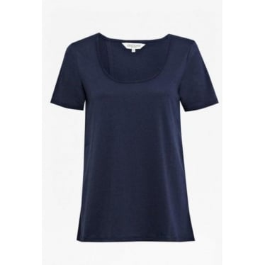 Womens Cerys Open Back Tee in Admiral Blue