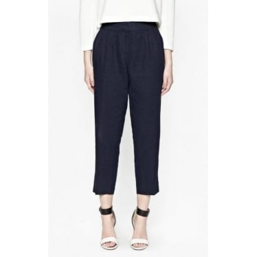 Womens Norfolk Linen Straight Leg Trousers in Admiral Blue