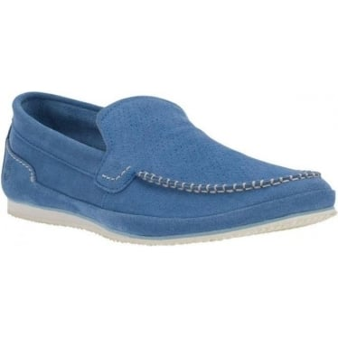 Mens Hayes Valley Loafer in Blue Suede