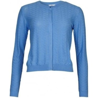 Womens Short Cardigan in Sky Blue