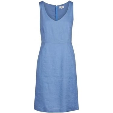 Womens Sleeveless Dress in Sky Blue
