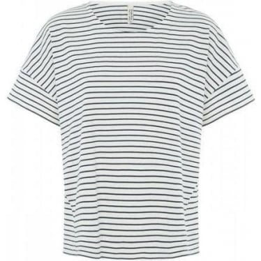 Womens Brittany Stripe Top in Navy
