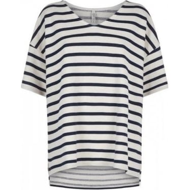 Womens Shannon Loopback Top in Navy