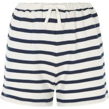 Womens Savanna Loopback Shorts in Navy