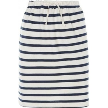 Womens Selena Loopback Skirt in Navy