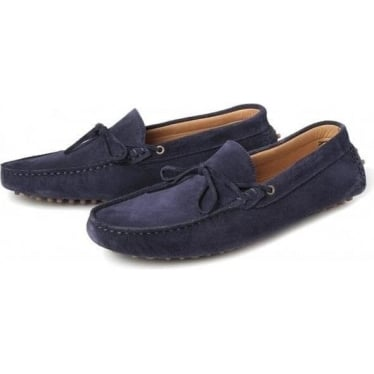 Mens Ricardo Suede Driver in Navy
