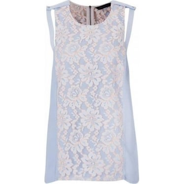 French Connection Womens Fresh Water Top in Powder Blue
