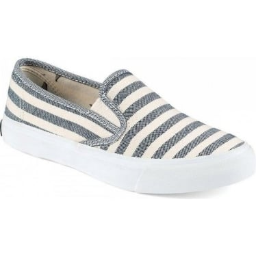 Womens Seaside Breton Slip-on in Navy Stripe