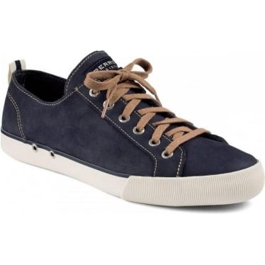 Mens Cadet Nubuck Lace-up Sneaker in Navy